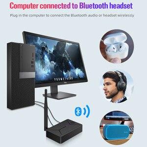 Image 3 - DISOUR Bluetooth 5,0 Audio Sender 3,5mm AUX Koaxial optische Faser Jack Stereo Wireless Adapter Für TV PC Bluetooth Lautsprecher