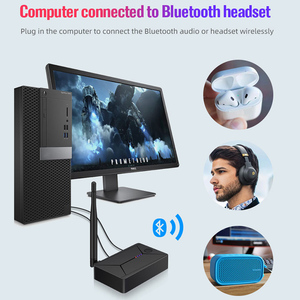 Image 3 - DISOUR Bluetooth 5.0 Audio Transmitter 3.5mm AUX Coaxial optical Fiber Jack Stereo Wireless Adapter For TV PC Bluetooth Speakers
