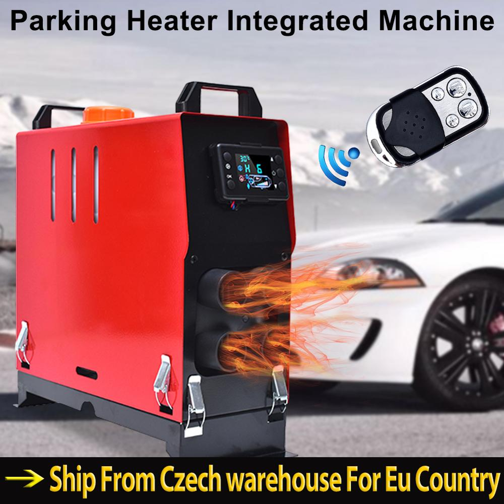 Air Diesel Heater Vehicle Heater Set LCD Thermostat 4 Holes Parking Heater Fast Heating with Remote Control with Low Noise Compact Warm Air Blower for Cars Trucks Ships 5KW 12 V//24V Car Heater