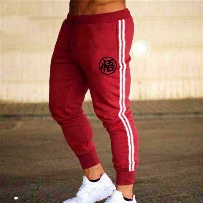 Hot Sale Solid Casualprinting Mens Casual Slim Fit Tracksuit Sports Solid Male Gym Cotton Skinny Joggers Sweat Casual Pants Trou