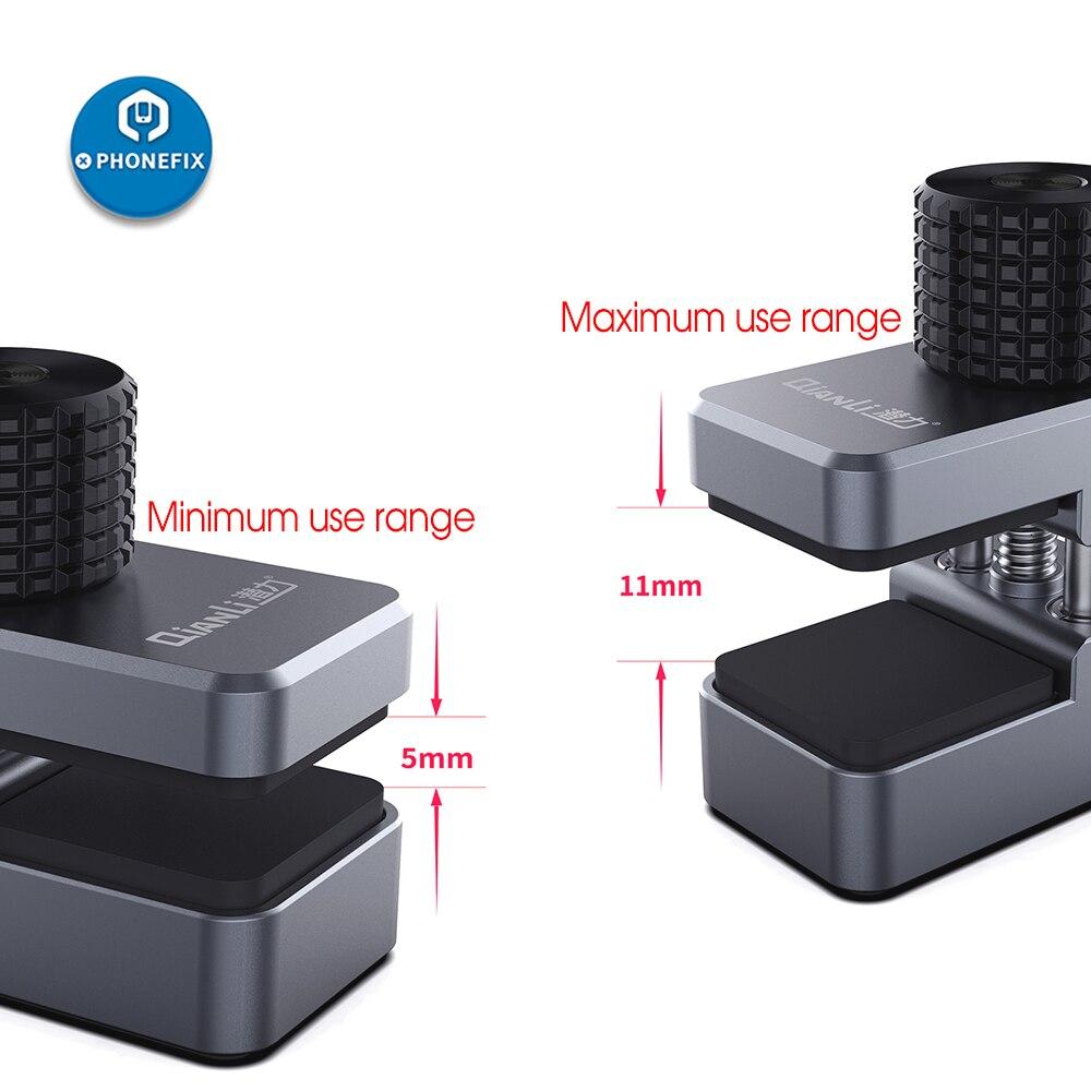 Фиксатор QIANLI iClamp для мобильного ЖК-экрана, Универсальное крепление, регулируемый зажим, металлический зажим для iPhone, iPad, Android