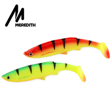 MEREDITH 4pcs Bleak Paddle Tail 120mm 14.5g Fishing Soft Lures T Artificial Bait Plastic Pike leurre souple