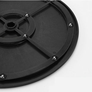 HQ P1 Double Side Clay Sculpture Pottery Furniture Plastic Swivel Plate Lazy Susan Package Turntable Base 20/25/30/40CM Dia