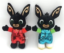 New Kids Brithday Gifts 30/37cm Sequins Cartoon Bing Bunny Rabbit Plush Toy Rabbit Animal Soft Bing's Friends Animals Doll Toy(China)