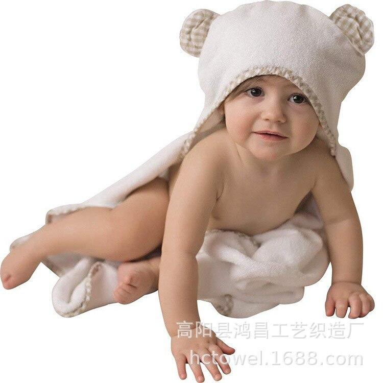 Plaid Multi-Flower Type Infant Hooded Bath Towel 90 Cartoon Bamboo Fiber Quilt Blankets