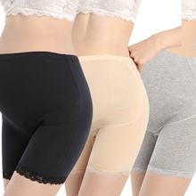 High Waist Adjustment Underwear Stomach Lift Pregnant Women's Boxer Pants Anti-light Safety Short Pants(China)