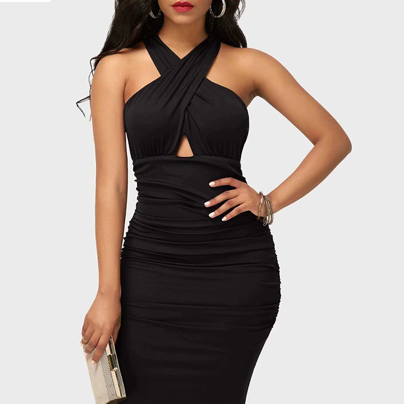 2020 Summer New Arrival Sexy Mini Dress For Women Bodycon Strap Casual Dress With Sleeveless