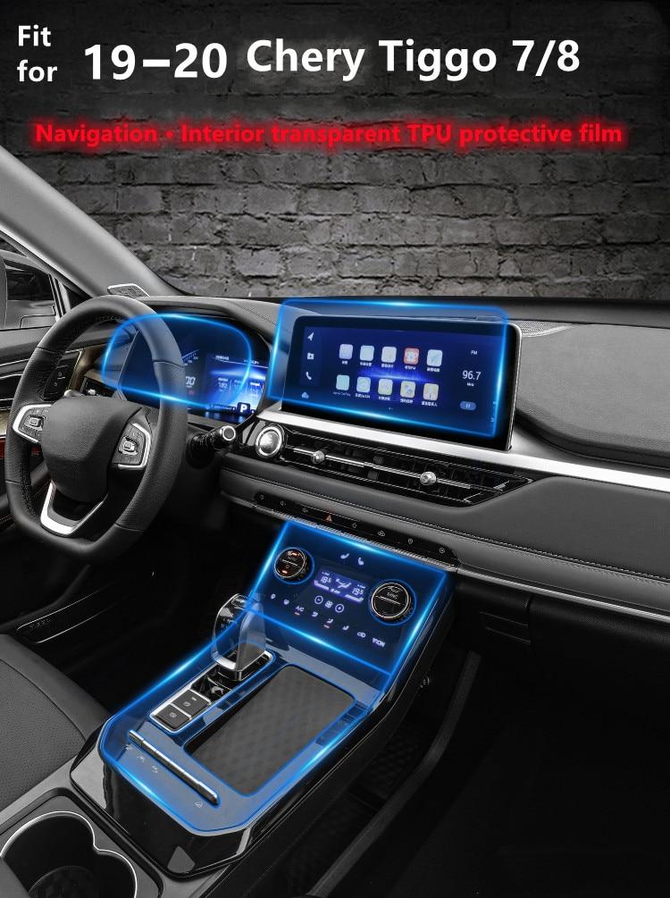 Lsrtw TPU Car Gear Dashboard Gps Navigation Screen Film Protective Sticker for Chery Tiggo 7 7pro 8  2019 2020 2021 Anti-scratch