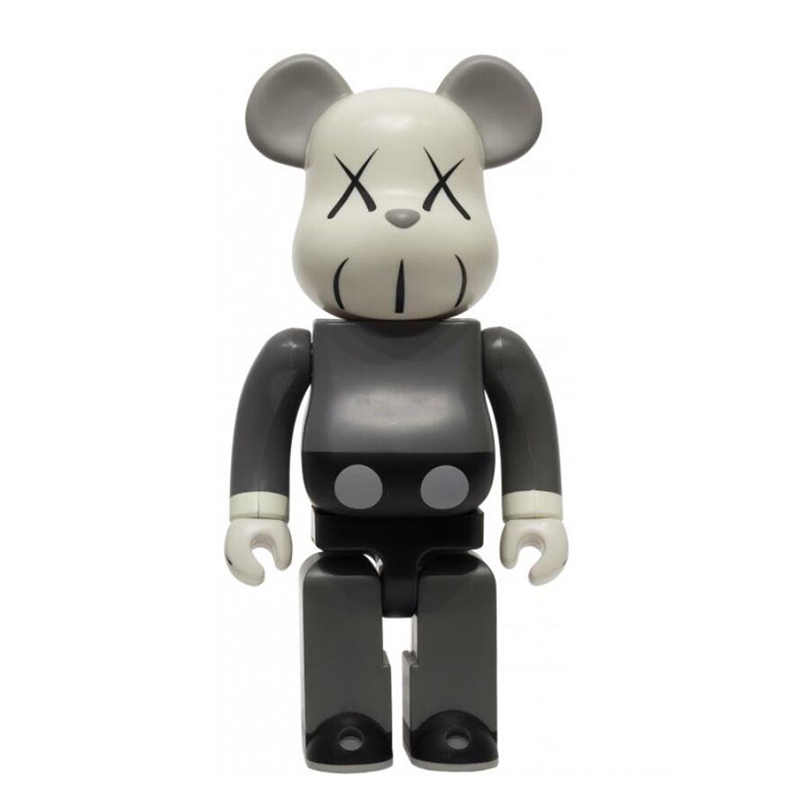 Hot 400% 28 Cm Bearbricklys Action Figure Blok Beruang Monyet Mouse PVC Street Art Boneka Collectible Model Anak-anak Mainan Natal
