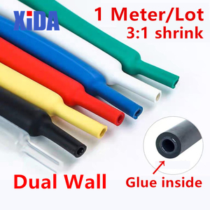 1.6/2.4/3.2/4.8/6.4/7.9/9.5/12.7/15mm Dual Wall Heat Shrink Tube 3:1 ratio Adhesive Lined with Glue Tubing Wrap Wire Cable kit(China)