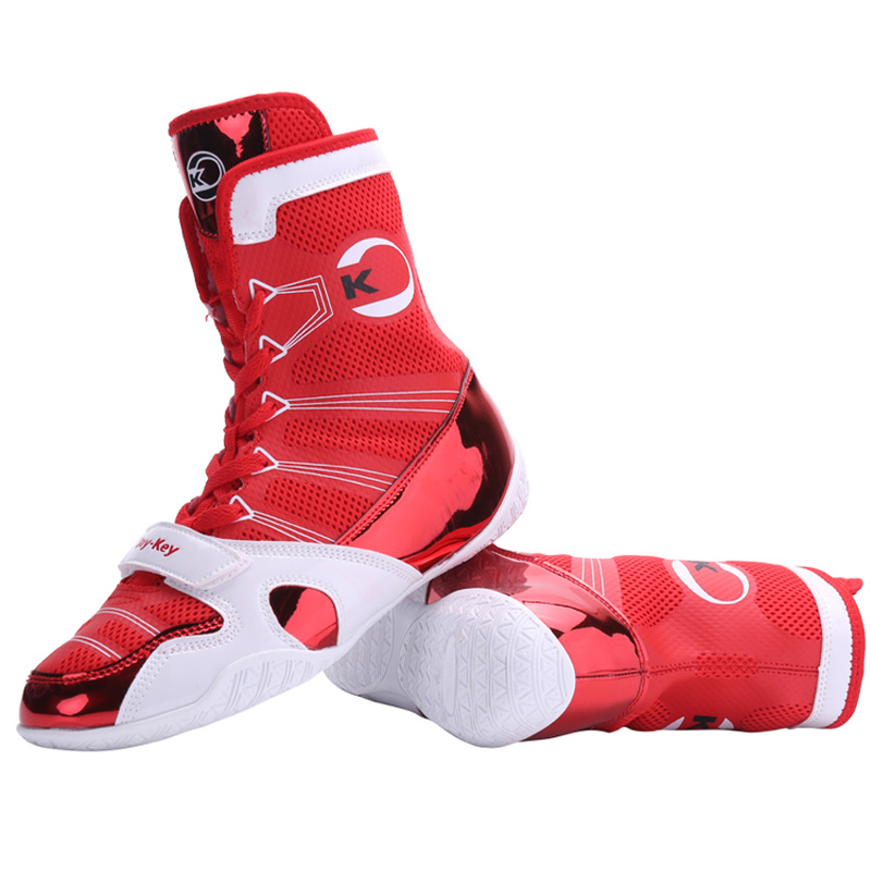 Professional Boxing Wrestling Shoes for men Lace-up training fighting boots Men Rubber outsole breathable shoes