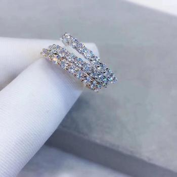 Artificial White Roses | Poetry Of Jew Store Round Rose Gold Moissanite Ring Luxury Moissanite Weding Ring For Women