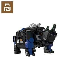 Youpin przekształcona zabawka bestia seria niebieski pancerz 22 ruchomy  zacięta specjalna policja niespodzianka atak pulpit Inteligentny pilot zdalnego sterowania    -