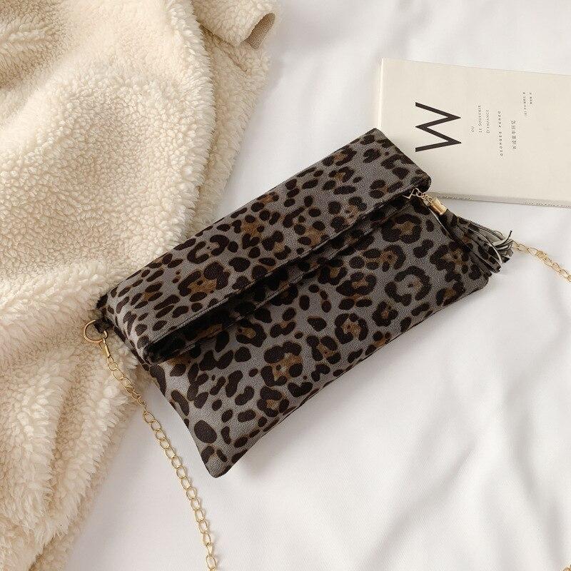 Fashion Leopard Handbag Women's Clutch Bag 5