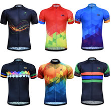 цена на Cycling Jersey Men Short Sleeve Racing Sport MTB Breathable Bike Jersey Cycling Shirt Pro Team Bicycle Clothing Maillot ciclismo