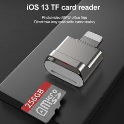 Nadaje się do adaptera Apple OTG karta TF czytnik micro SD USB3.0 do konwertera tabletu Lightning na iphone'a 7 8 X adapter iOS 13