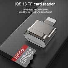 for lightning to sd tf card camera reader adapter compatible camera kit otg data cable needn t app for iphone apple ios 9 2 11 3 Suitable for Apple OTG adapter TF Card micro SD Reader USB3.0 for Lightning tablet converter for iphone 7 8 X iOS 13 adapter
