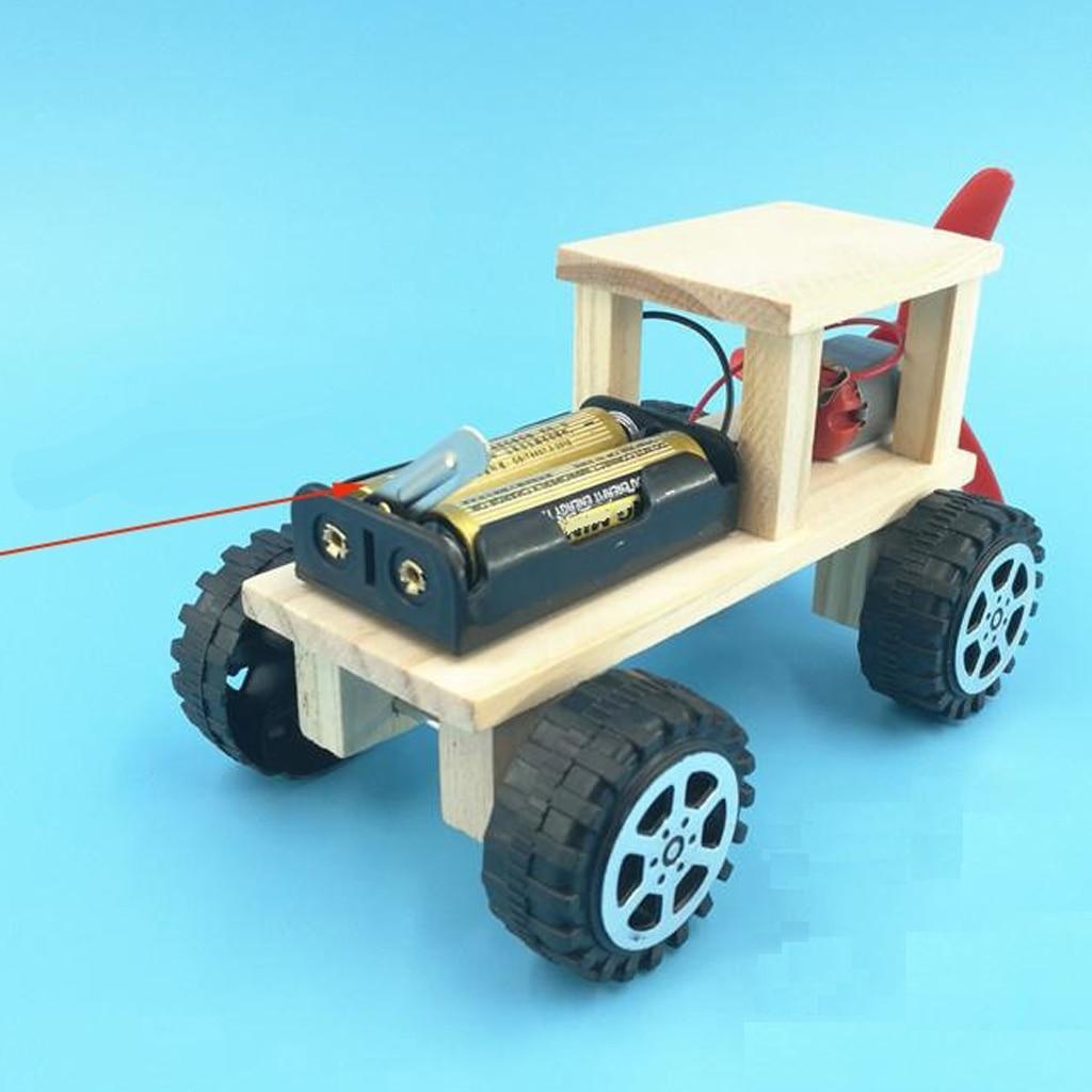 Mini voiture/avion de Robot de moteur actionné par vent, Kit de Robot de Puzzle de bricolage de voiture de vent, avion de Robot de bricolage de vent