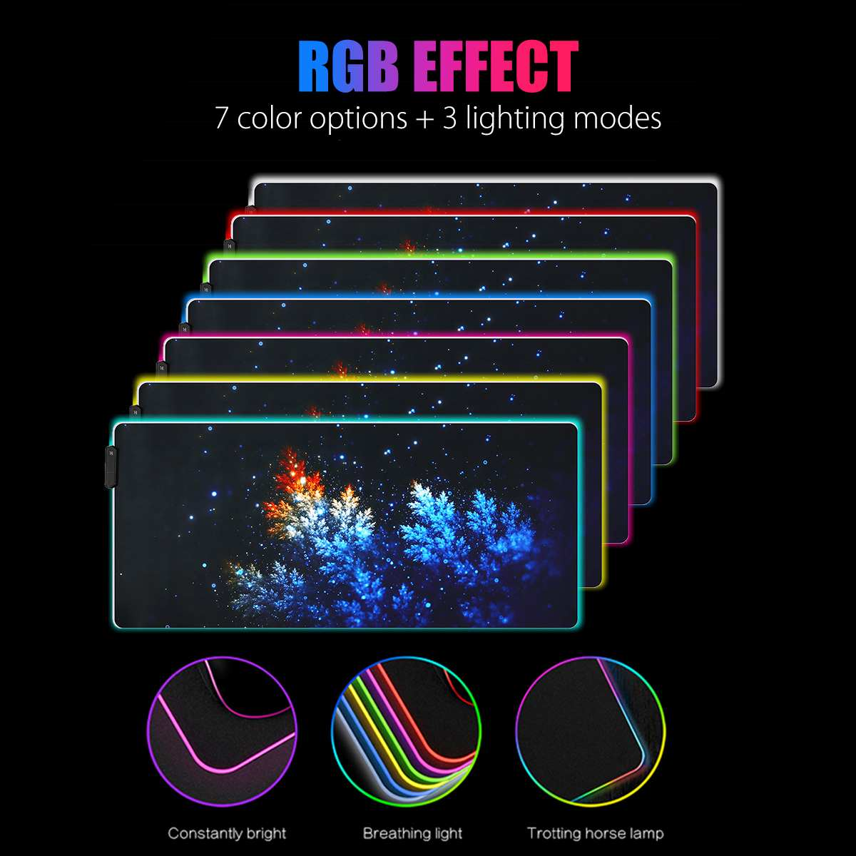 Gaming Mouse Pad LED RGB Large Gamer Mousepad USB LED Lighting Backlit Rainbow Computer Mat Rubber Keyboard Desk Pad for dota 2