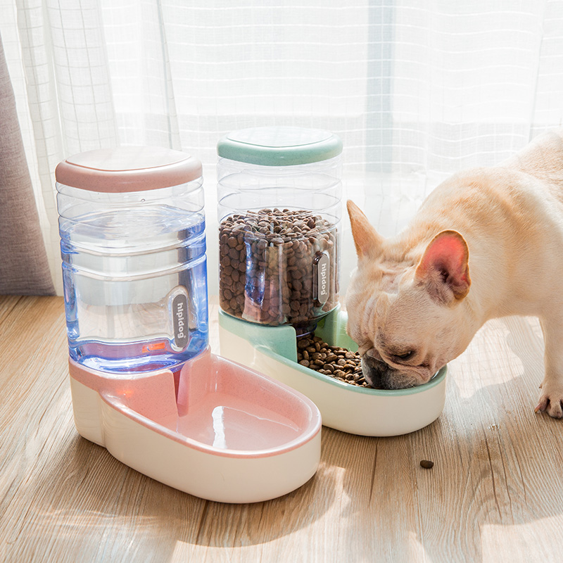 Hipidog High Capacity Automatic Dog Bowl Water Food Dog Bowl Large Pet Bowl Water Bottle