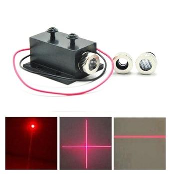 3in1 Dot/Line/Cross Focusable 650nm 50mw Red Laser Module Positioning Lights w 12mm Heatsink focusable 5mw 650nm red laser diode dot line cross led module 12x30mm w heatsink
