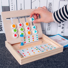Montessori Toys Educational Wooden Toys for Children Early Learning Materials Kids Four Color Matching Game montessori toys educational wooden toys for children early learning magnetic maze labyrinth animal shape game toys