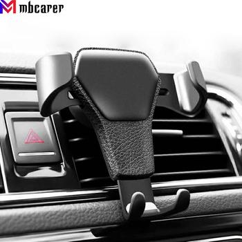 Gravity uchwyt samochodowy do telefonu komórkowego uchwyt samochodowy Air Vent klip stojak telefon komórkowy GPS wsparcie dla iPhone 11 XS X XR 7 Samsung Huawei tanie i dobre opinie CN (pochodzenie) Black