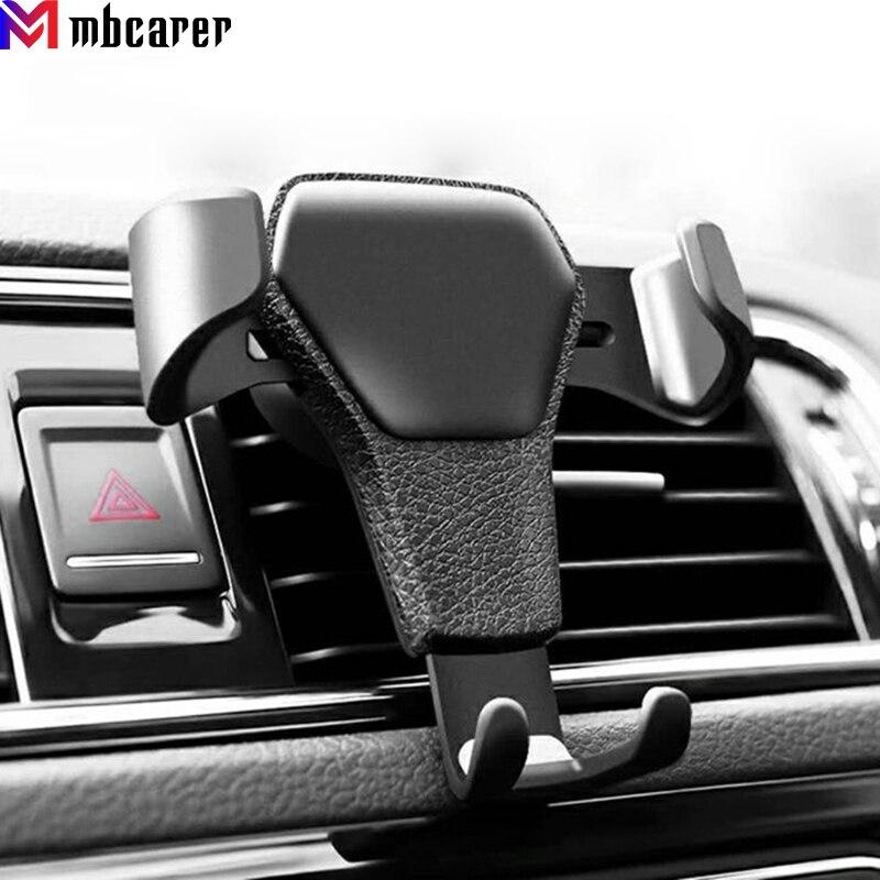 Soporte de coche Gravity para teléfono móvil, Clip de ventilación de coche, GPS, para iPhone 11, XS, X, XR, 7, Samsung, Huawei