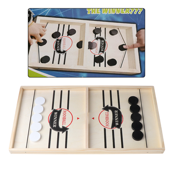 Head-to-Head Wooden Desktop Hockey Table Game for Kids and Adults, Portable Hock image