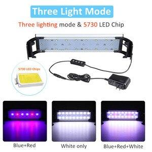 Image 3 - Lumière daquarium éclairage de LED 20 65CM lampe de réservoir de poissons plantes aquatiques lumières Led de pêche décoration dintérieur rvb avec minuterie et gradation