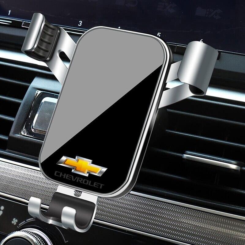 1 pçs suporte do telefone carro gravidade sensoriamento ventilação de ar montagem suporte acessórios para chevrolet tahoe cruze z71 aveo camaro captiva vela