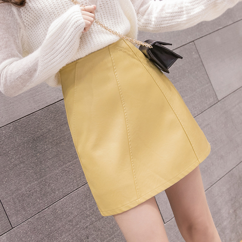 Autumn And Winter Women's 2019 New Style 9636 # INS Super Fire Short Skirt 2019 Autumn And Winter New Style Korean-style Hong Ko