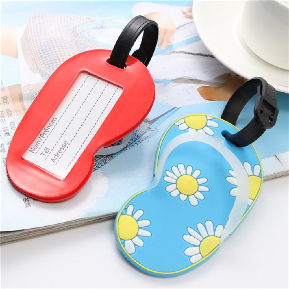 Travel Accessories  Luggage Tag Fashion Women Silica Gel Suitcase ID Address Holder Baggage Boarding Tag Portable Label