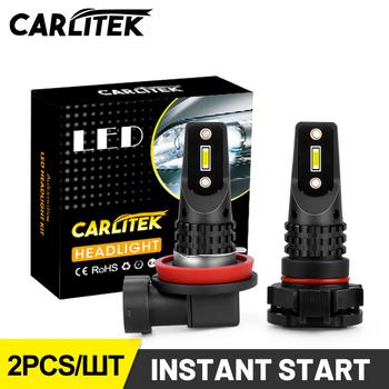 CARLITEK H7 H8 H10 H11 Led światła przeciwmgielne HB4 9006 HB3 9005 u nas państwo lampy Mini T20 PSX24W PY24W 9012 H16 P13W żarówki 12V 24V akcesoria samochodowe tanie i dobre opinie 12 v CN (pochodzenie) 1860 CSP Chips 2 PCS 3000LM 5000LM White Color (6500K) All-in One Design 12 24V 20W 30W Universal