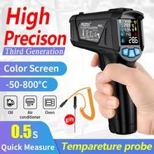 MESTEK דיגיטלי מדחום אינפרא אדום לייזר ללא מגע מד טמפרטורה Pyrometer תרמי מדדי לחות IR termometro מדי חום