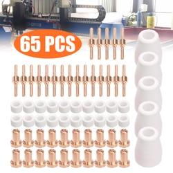 65pcs PT31 CUT 30 40 50 Plasma Cutter Welding Accessories Consumables Set