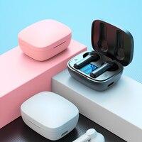 Auriculares deportivos con Bluetooth 5,0, dispositivos de audio inalámbricos con pantalla LED y micrófono, caja de carga 9D, resistentes al agua