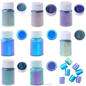 Mirror Chameleons Pigment Pearlescent Epoxy Resin Glitter Magic Discolored Powder Resin Colorant Jewelry Making Tools Dropship