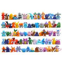 24 unids/set 2-3cm Pokeball figura de acción Mini Pikachu charizard monstruo de bolsillo modelo de juguete Brinquedos colección Anime chico juguetes de la muñeca