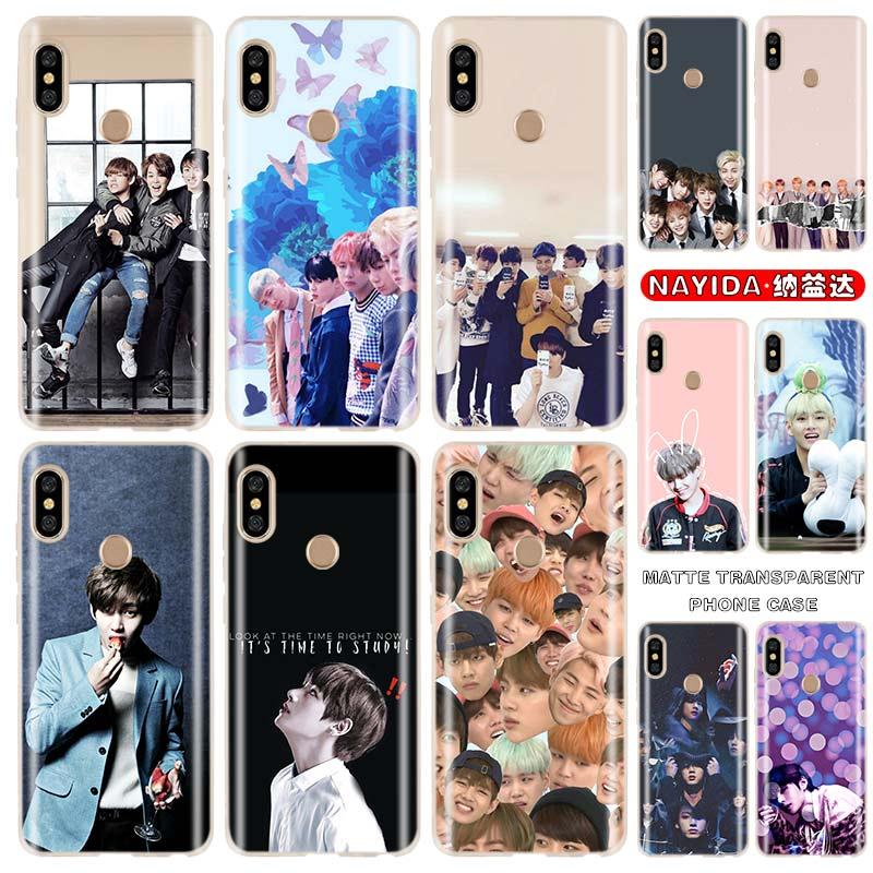Soft Phone Case For Xiaomi Redmi Note 9 8 7 6 5 4 K20 Pro 8A 7A 6A S2 Plus 4X Kpop Bangtan Boys Shell Coque Cases Fundas