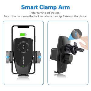 Image 4 - Suntaiho 15w qi sem fio carregador de carro aperto automático para o iphone 11 promax samsung s10 s9 note10 8 respiradouro ar montar suporte do telefone
