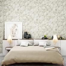wallpaper 3D stereo mosaic imitation tile square lattice modern minimalist light luxury bedroom living room