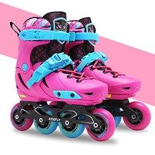 Skating-Shoes Roller Chrome-Ball-Bearings Inline-Skates Adult Women's Slalom Professional