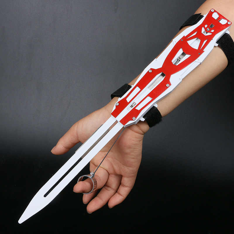 Assassin S Creed Hidden Metal Blade Sword Sword Action Figure Hidden Blade Edward Weapon Sword Can Pop Kids Toy Aliexpress