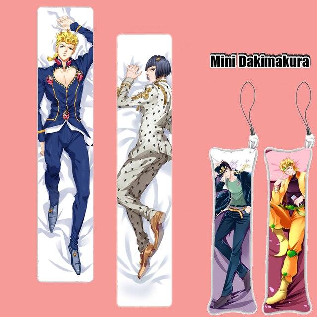 JoJo's Bizarre Adventure Golden Wind Mini Dakimakura Phone Strap Keychain Hanging Pillow Print Figure Cosplay Pendant Charm Gift
