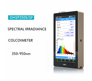 Hangzhou ohsp350s tm30 par ppfd nir espectrômetro unibaody testador de terapia de luz