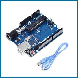 S ROBOT UNO R3 официальная коробка ATMEGA16U2 + MEGA328P чип для Arduino UNO R3 макетная плата + USB кабель EC15