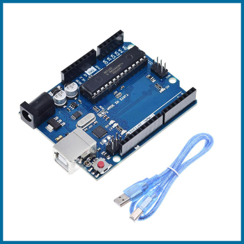 цена на S ROBOT UNO R3 Official Box ATMEGA16U2+MEGA328P Chip For Arduino UNO R3 Development board + USB CABLE EC15
