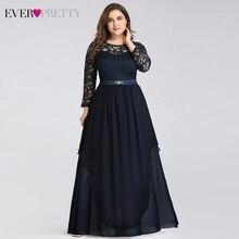 Bride-Dresses Elegant Party-Gowns Ever Pretty Lace Vestido-De-Madrinha Full-Sleeve Plus-Size