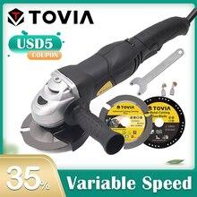 TOVIA amoladora angular eléctrica, 125mm, 950W, rectificadora de corte de velocidad Variable, amoladora de Metal y madera M14